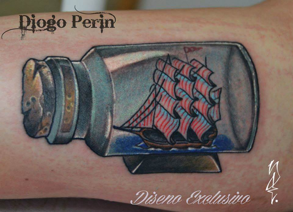 Tattoo Alicante - barco botella