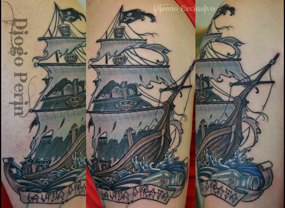 Tattoo Alicante - barco color