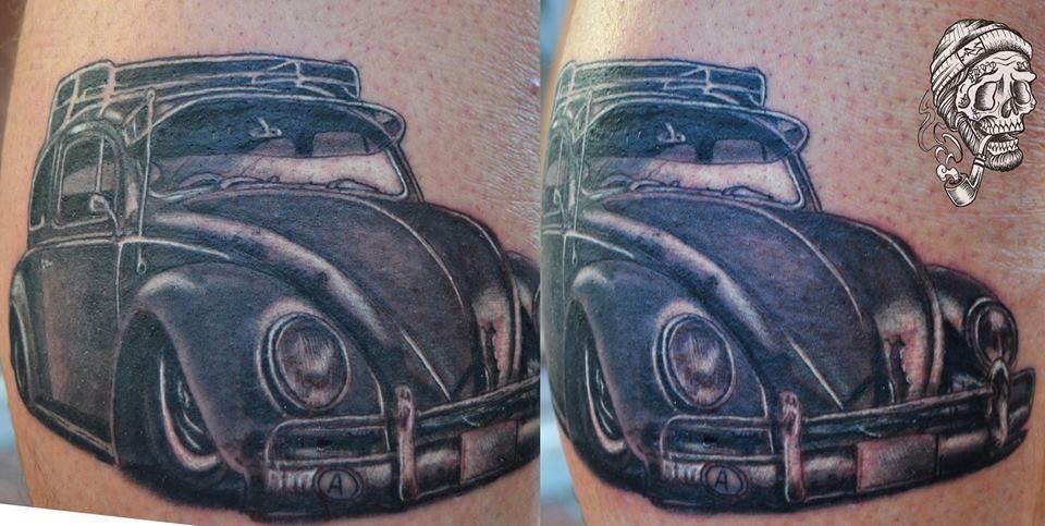 Tattoo Alicante - coche realista negro