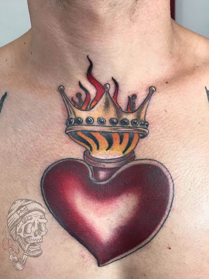 Tattoo Alicante - corazon fuego
