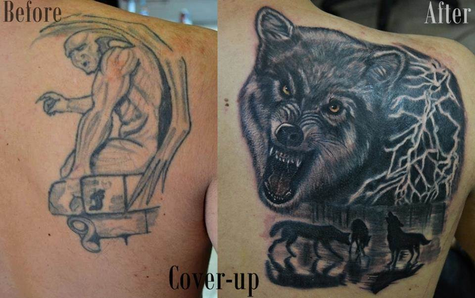 Tattoo Alicante - cover lobo tormenta