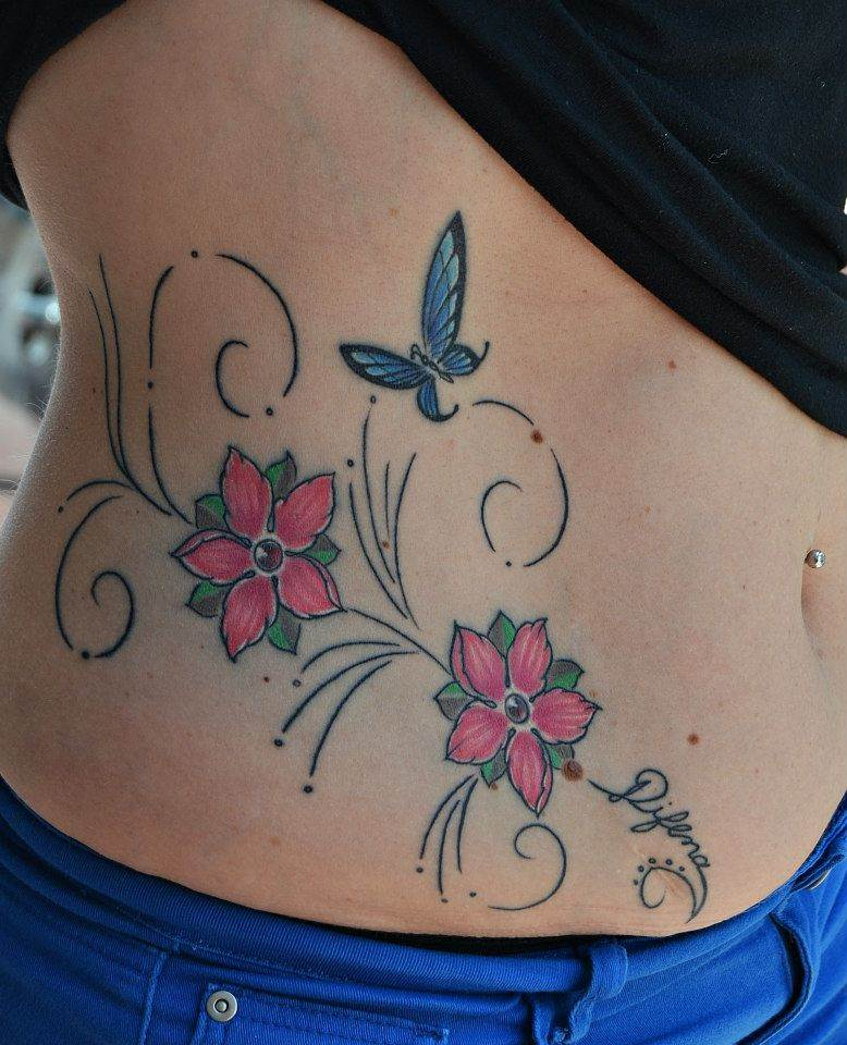 Tattoo Alicante - flores color