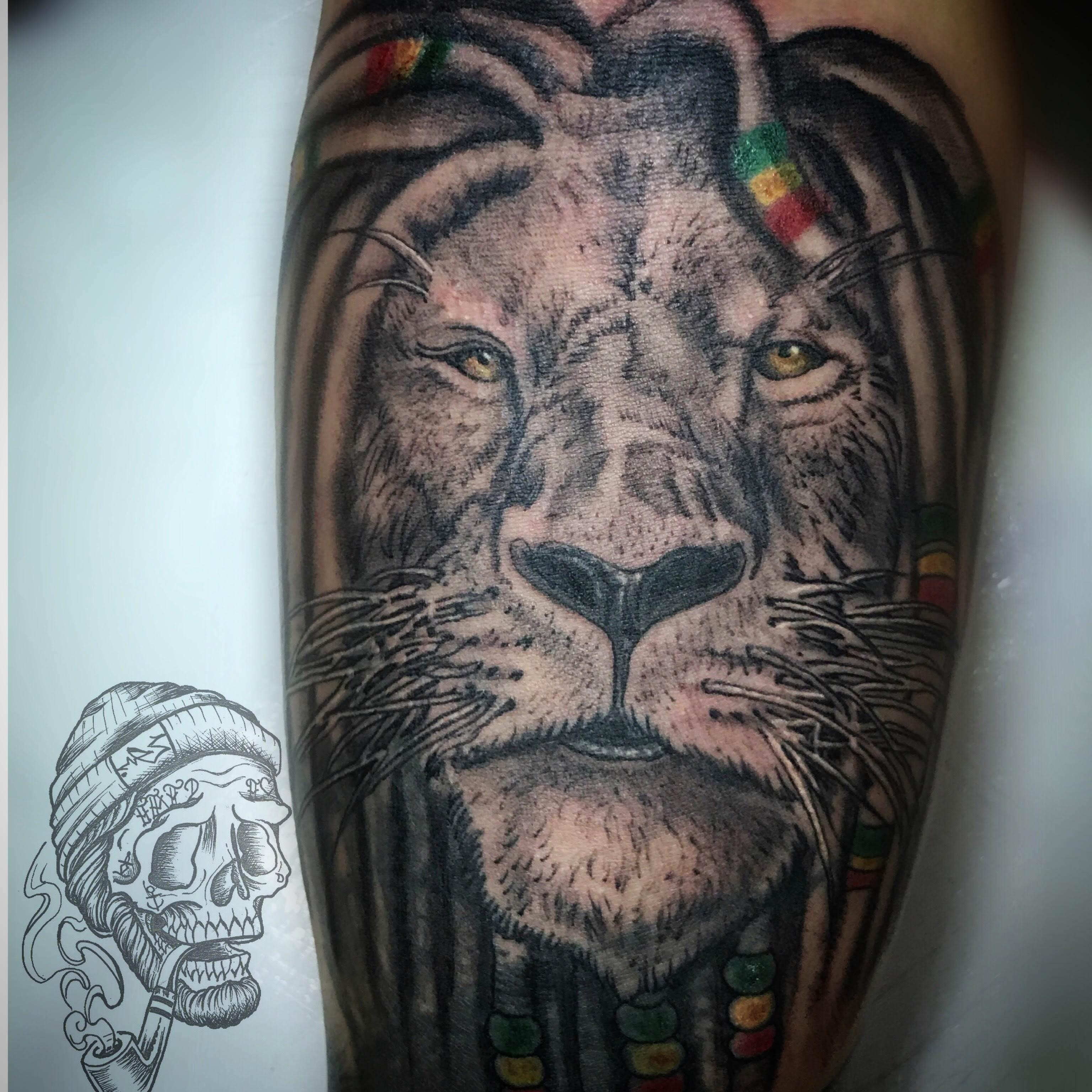 Tattoo Alicante - leon realista negro