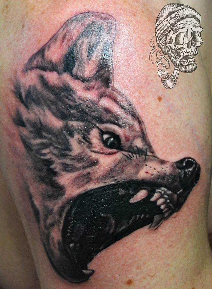Tattoo Alicante - lobo negro