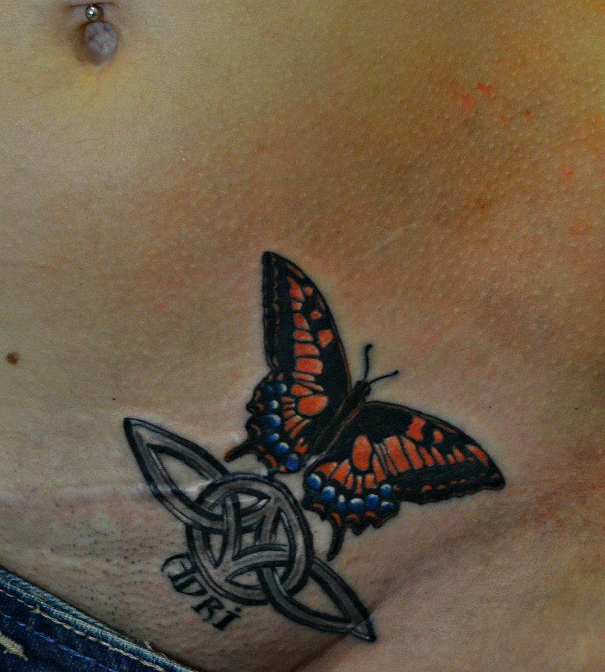 Tattoo Alicante - mariposa color