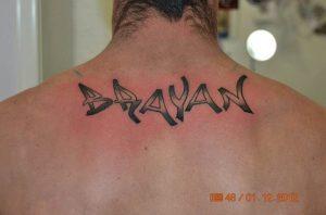 Tattoo Alicante - nombre espalda