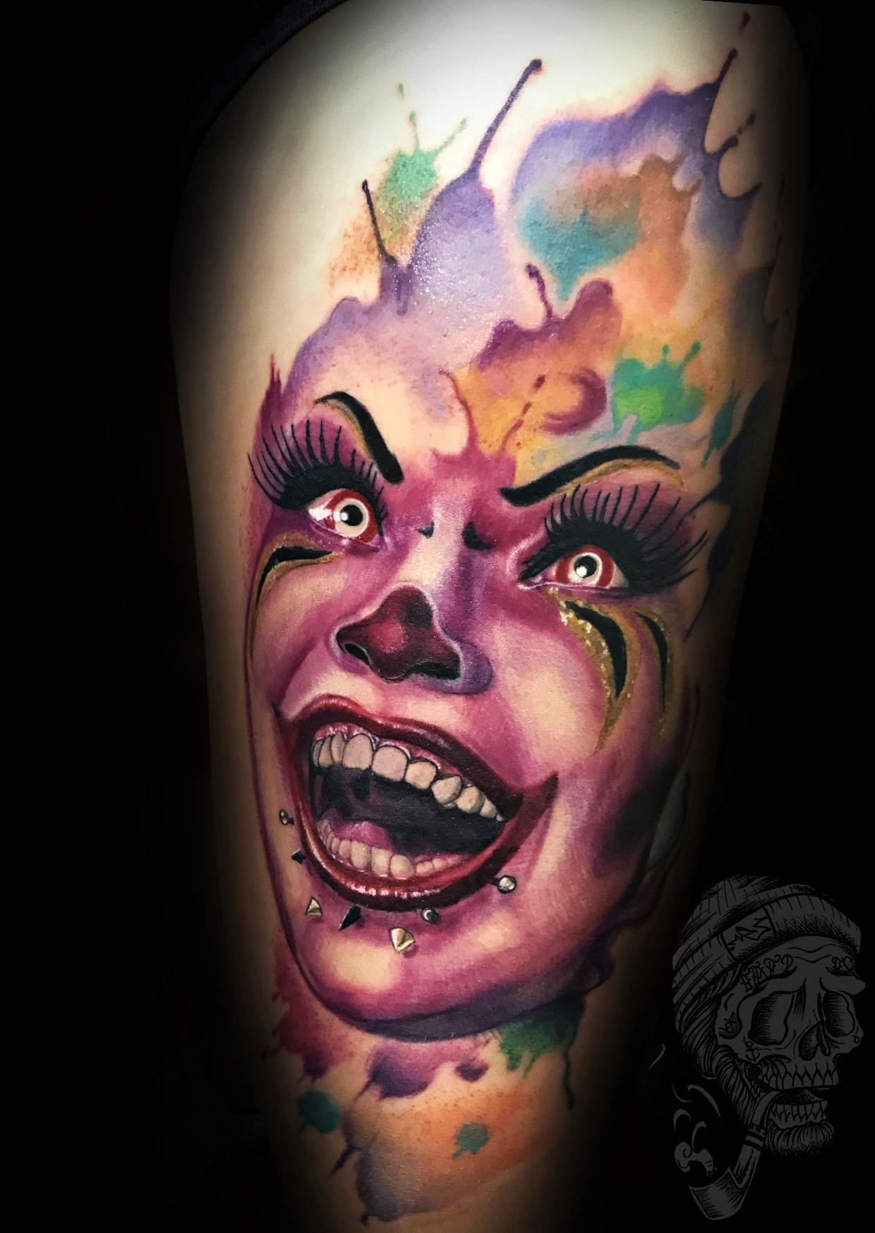 Tattoo Alicante - payasa pintura oleo