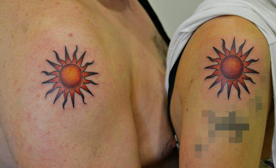 Tattoo Alicante - sol color pareja